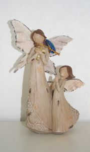 Mother And Child Figurine From The Woodland Angels Range 61027